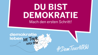 Logo Demokratie Tour NRW