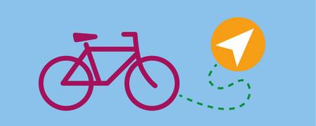 Symbole: Fahrrad, Streckenstriche und Papierflieger  - Link auf: Mobilität