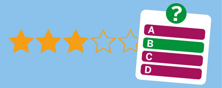 Symbole: Sterne-Bewertung und Quiz  - Link auf: Lernen und Challenges