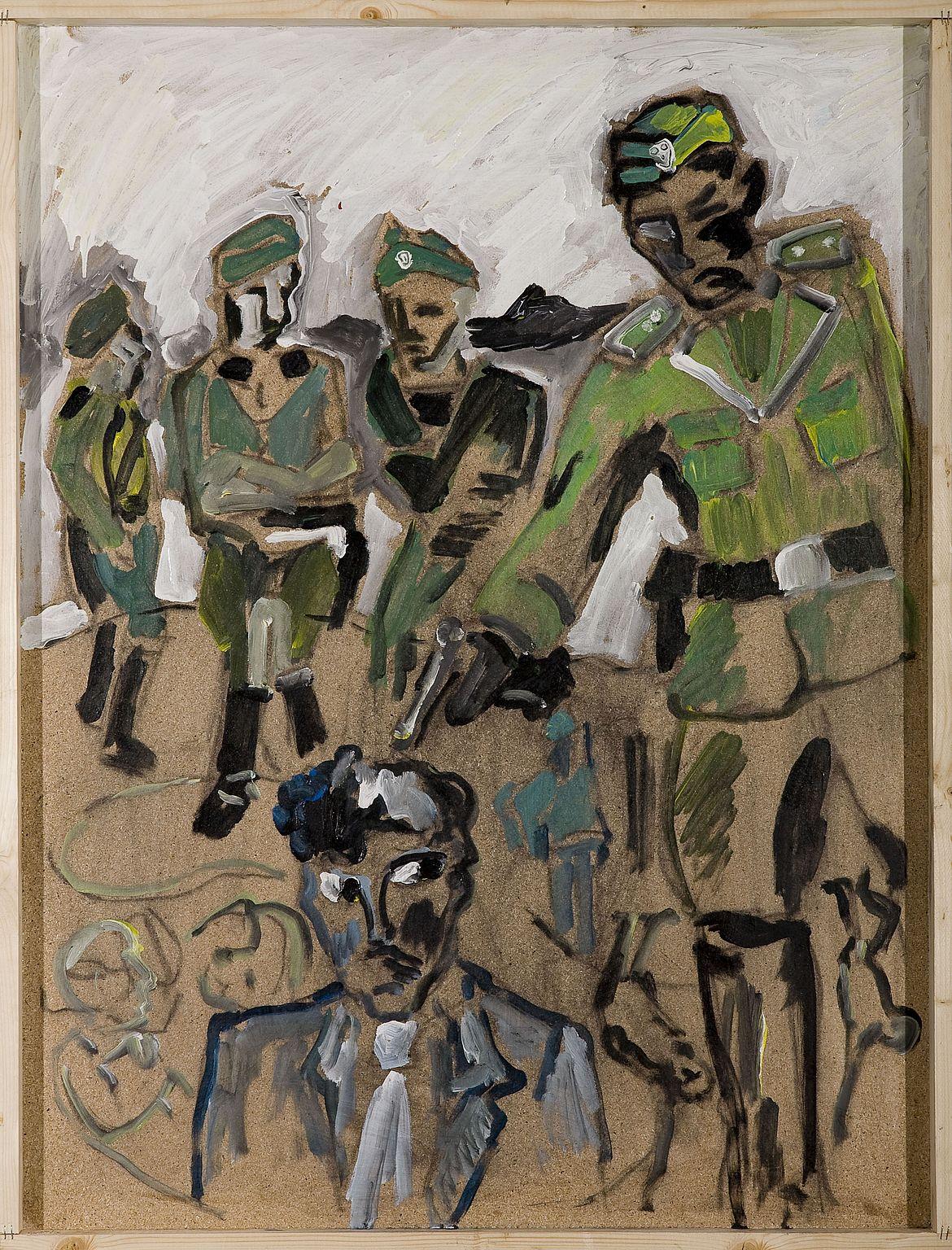 Gemälde von Soldaten