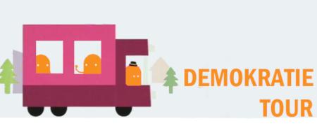 Piktogramm zur Demokratietour  - Link auf: Demokratie Tour