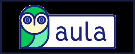 Logo Aula mit Rahmen  - Link auf: aula als Online-Beteiligungsformat