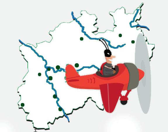 """Screenshot vom Spiel """"Rundflug NRW"""""""