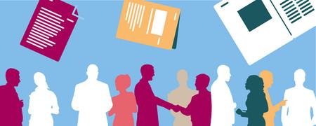 Oben: mehrere Handreichungen, unten: diskutierende Menschen   - Link auf: Laufende Projekte