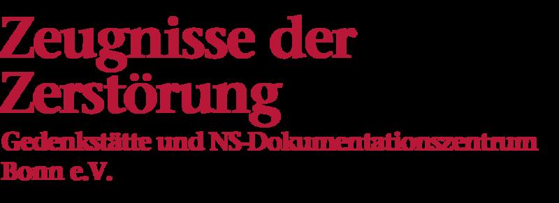 Bildliche Darstellung der Überschrift: Zeugnisse der Zerstörung, NS-Dokumentationszentrum Bonn