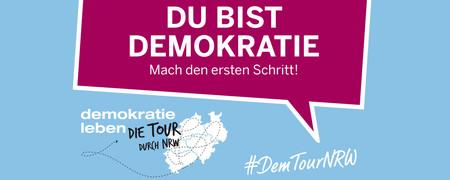 Demokratie leben - die Tour durch NRW  - Link auf: Demokratie leben - die Tour durch NRW