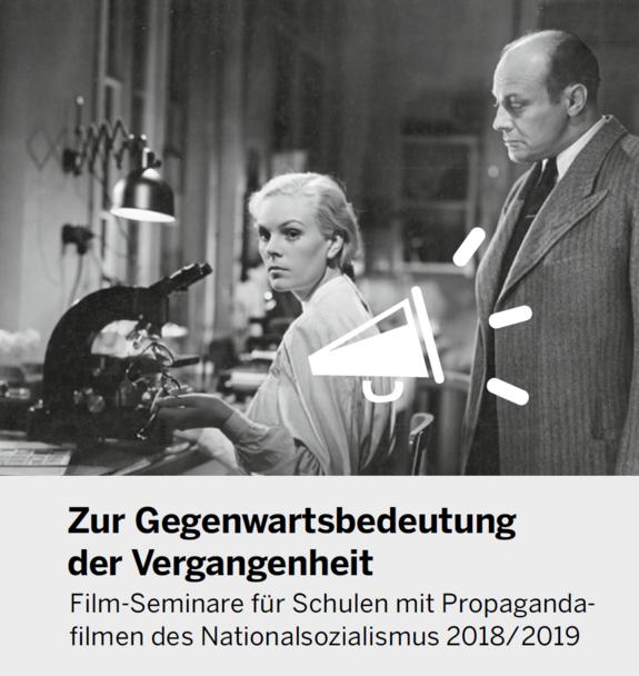 Filmszene, darunter der Titel der Veranstaltung.