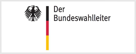 Logo des Bundeswahlleiters  - Link auf: Wahl zum 9. Europäischen Parlament