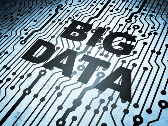 """Aufschrift """"Big Data"""" auf Kennzahlen."""