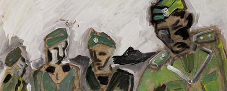 Anatols Gemälde von Polizeiverbrechen im Zweiten Weltkrieg  - Link auf: Anatols Gemälde