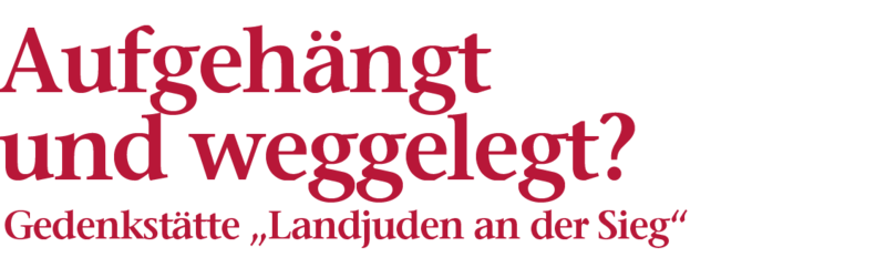 """Bildliche Darstellung der Überschrift: Aufgehängt und weggelegt?, Gedenkstätte """"Landjugend an der Sieg"""""""