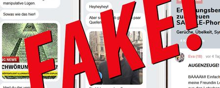 """Screenshot von Fake-News  - Link auf: Fake-News-App: """"Vorsicht - Giftstoffe im Handy!"""""""