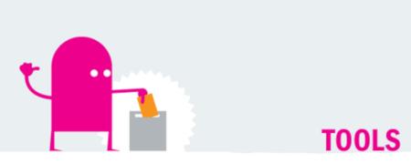 """Piktogramm """"Tools gesamt""""  - Link auf: Wahl- und Info-Tools"""
