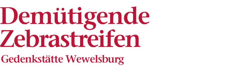 Bildliche Darstellung der Überschrift: Demütigende Zebrastreifen, Gedenkstätte Wewelsburg