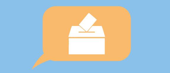 Grafik einer Wahlurne