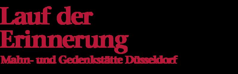 Bildliche Darstellung der Überschrift: Lauf der Erinnerung, Mahn- und Gedenkstätte Düsseldorf