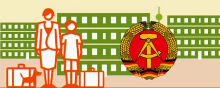 Piktogramm und DDR-Symbol  - Link auf: Materialien