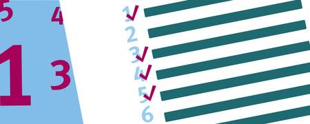 Vier Zahlen neben einer nummerierten Liste  - Link auf: Bestellhinweise