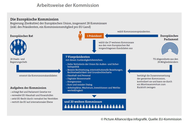 Grafik zur Arbeitsweise der EU-Kommission