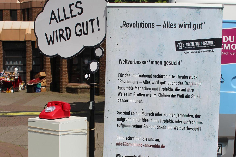 Informationsstand Brachland-Ensemble.
