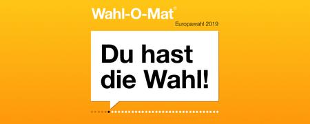 Wahl-O-Mat zur Europawahl 2019  - Link auf: Wahl-O-Mat zur Europawahl 2019