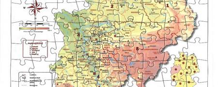 Rahmenpuzzle NRW  - Link auf: Rahmenpuzzle Nordrhein-Westfalen