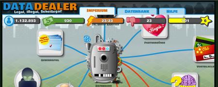 Screenshot der Internetseite datadealer.com/de  - Link auf: Data Dealer