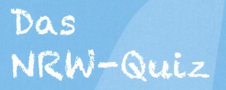 """Kachel mit Text """"Das NRW Quiz""""  - Link auf: Das NRW-Quiz"""