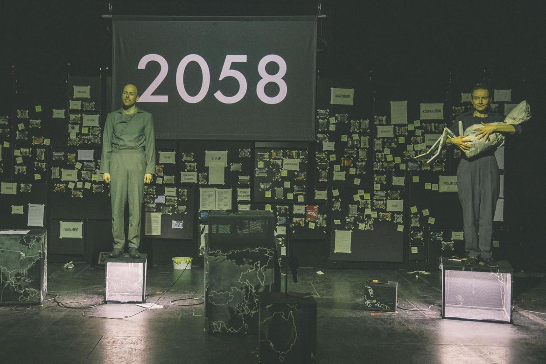 Bühnenbild des Theaterstücks