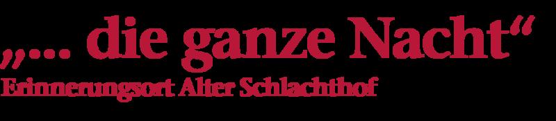 """Bildliche Darstellung der Überschrift: """"... die ganze Nacht"""", Erinnerungsort Alter Schalchthof"""