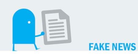 """Piktogramm und Aufschrift """"Fake News""""  - Link auf: Fake News"""