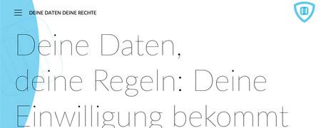 Screenshot der Internetseite deinedatendeinerechte.de  - Link auf: Deine Daten. Deine Rechte.