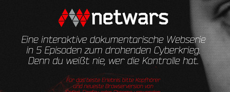 Screenshot der Internetseite www.netwars-project.com/de/  - Link auf: Netwars