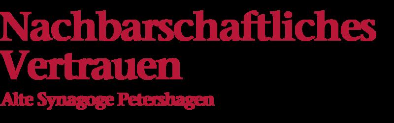 Bildliche Darstellung der Überschrift: Nachbarschaftliches Vertrauen, Alte Synagoge Petershagen