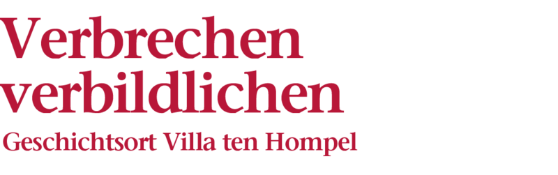 Bildliche Darstellung der Überschrift: Verbrechen verbildlichen, Geschichtsort Villa ten Hompel