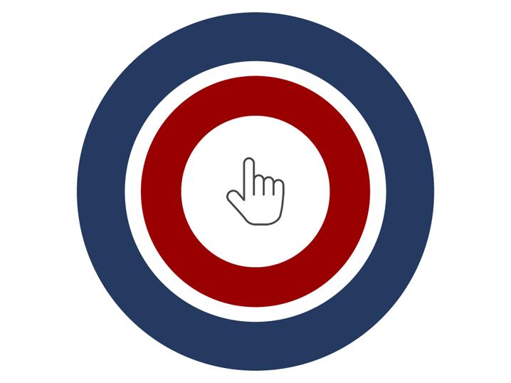 """Logo des Projekts """"Zuerst denken, dann klicken"""""""