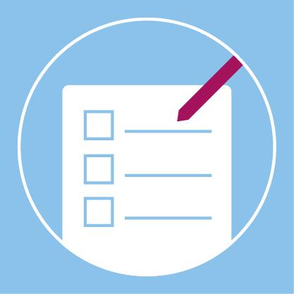 Grafik einer Checkliste