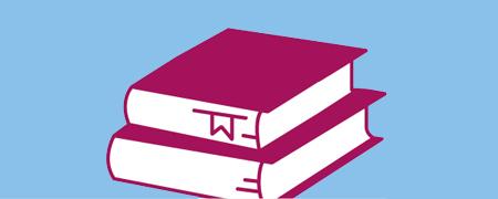 Ein Stapel aus zwei Büchern