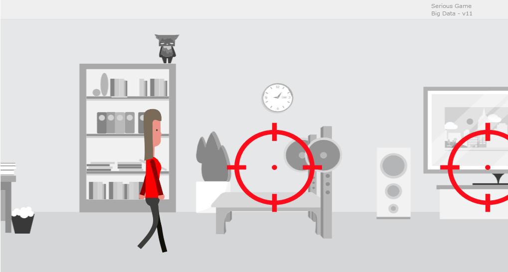 Illustration einer Frau im Wohnzimmer