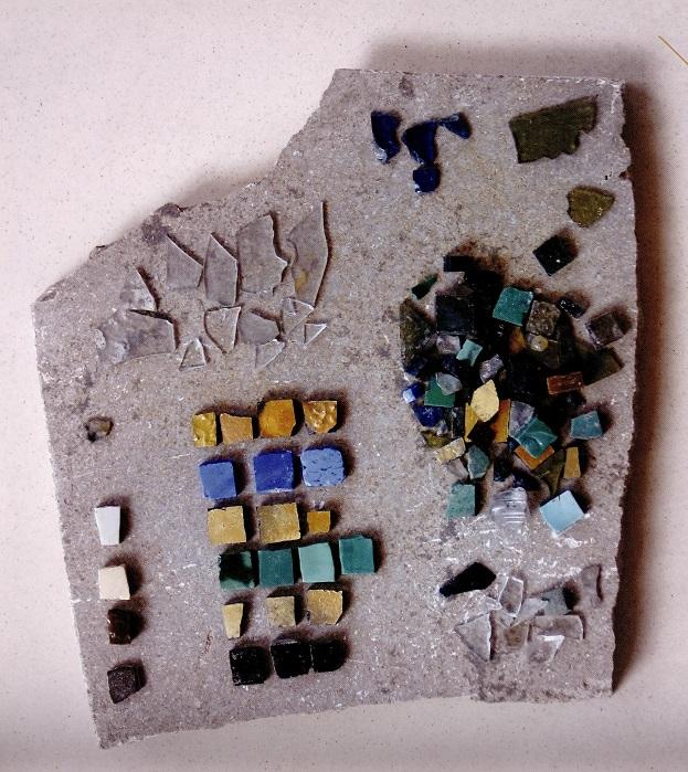 Mosaiksteinchen von der Synagoge in Essen