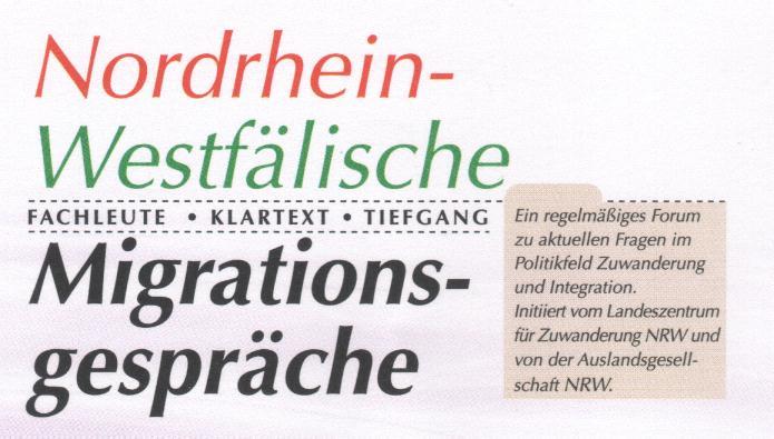 Logo NRW Migrationsgespräche