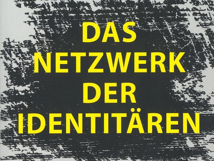 Titel des Buches in gelber Schrift auf einem schwarz-weißen Hintergrund