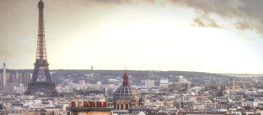 Ausblick über Paris mit dem Eiffelturm