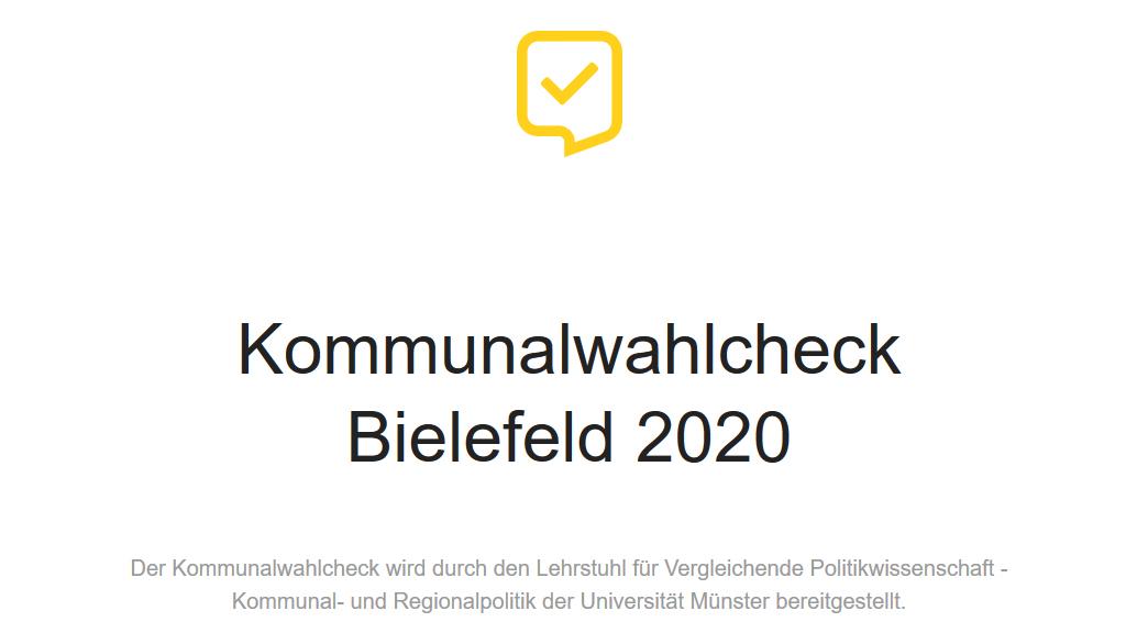 Screenshot Kommunalwahlcheck Bielefeld
