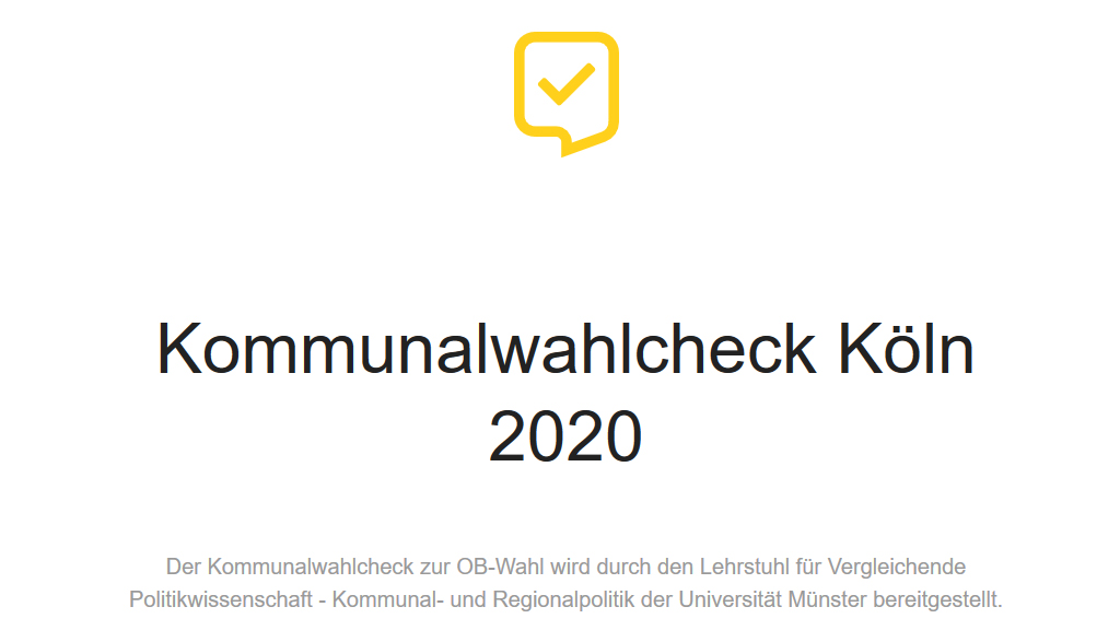 Screenshot Kommunalwahlcheck Köln