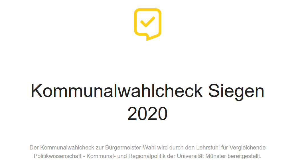 Screenshot Kommunalwahlcheck Siegen