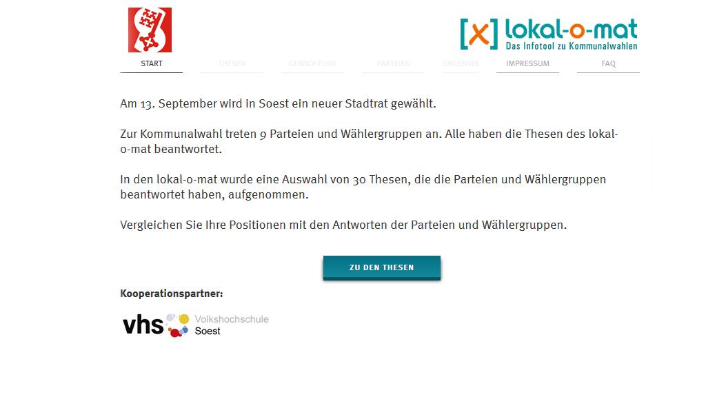 Screenshot lokalomat Soest