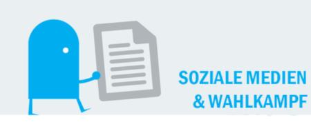 """Piktogramm """"Soziale Medien und Wahlkampf"""""""