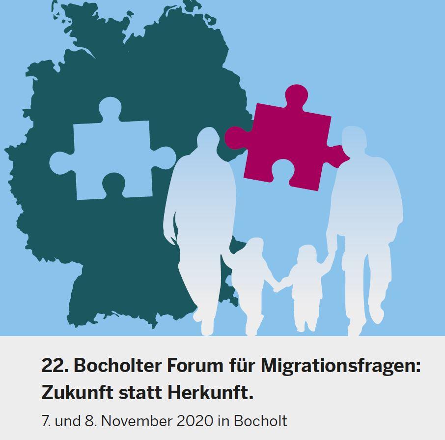 Das Bild zeigt eine Familie vor einer Deutschlandkarte, in der ein Puzzlestück fehlt.